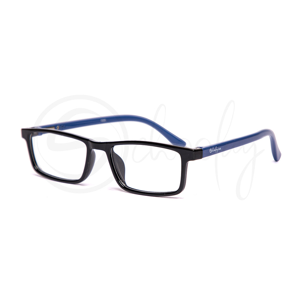Teens/Adults LFH/WFH Eye Protection - Blue Rectangle Teen Specs