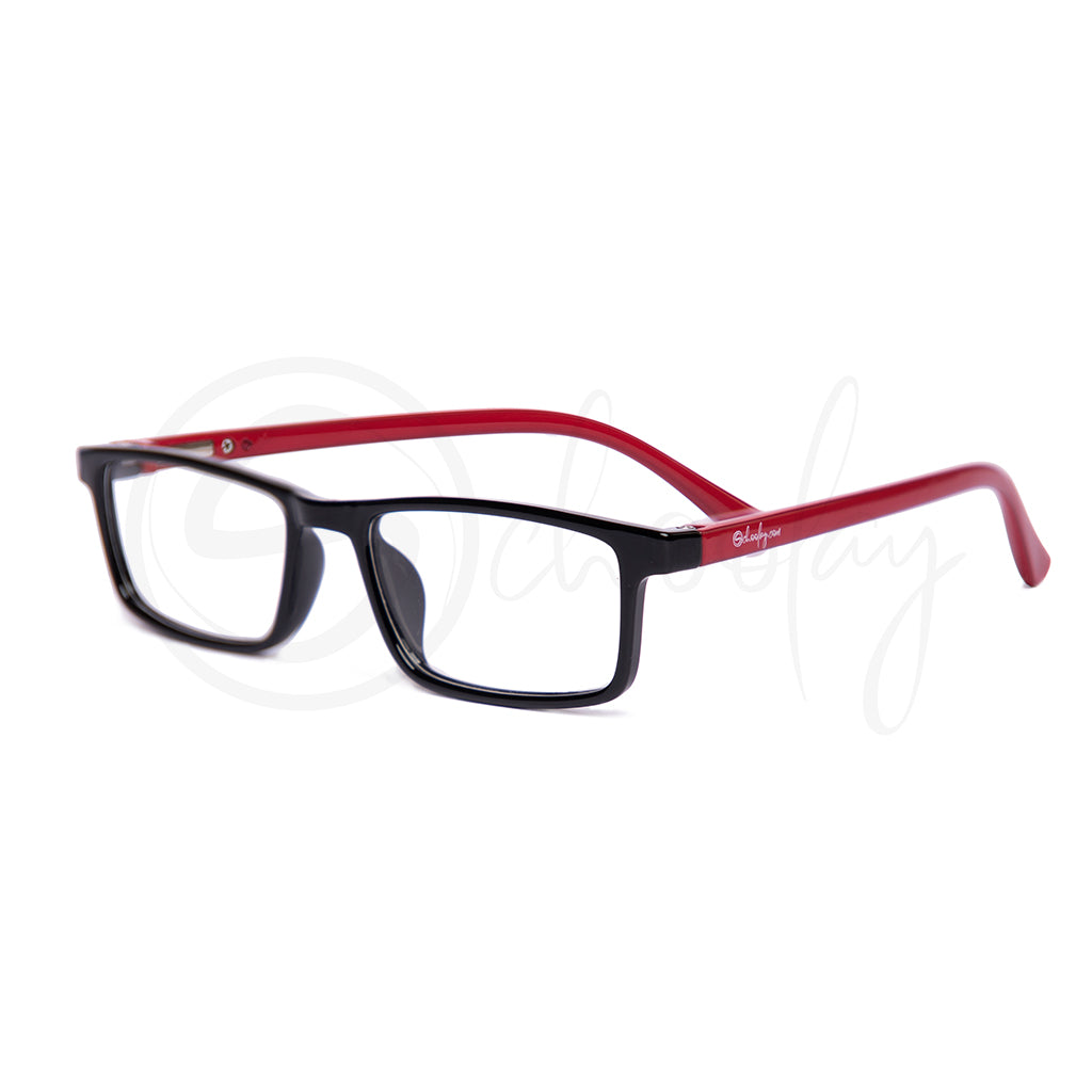 Teens/Adults WFH Eye Protection - Red Rectangle Teen Specs