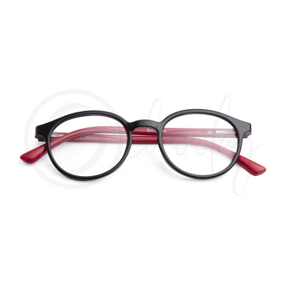 Teens/Adults WFH Eye Protection - Red Oval Teen Spects