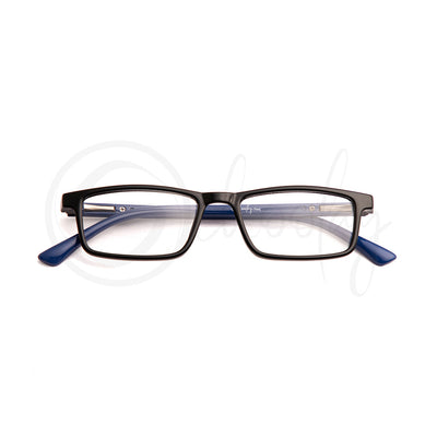 Teens/Adults WFH Eye Protection - Blue Rectangle Teen Specs