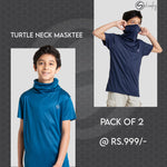 Pack of 2 Classy Self Design Tees (Teel & Navy)