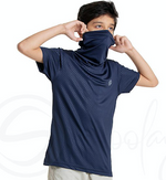 Defender - Turtle Neck Navy Blue MaskTee