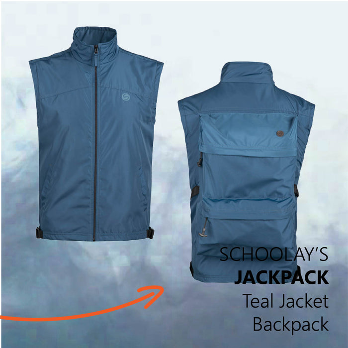 Teal JackPack (Jacket + Backpack) Core Functionality