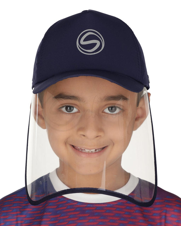 Schoolay Defenders- Dark Navy Blue Sporty Detachable Cap shield