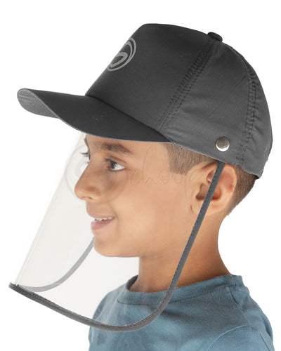 Schoolay Defenders- Charcoal Grey Sporty Detachable Cap shield