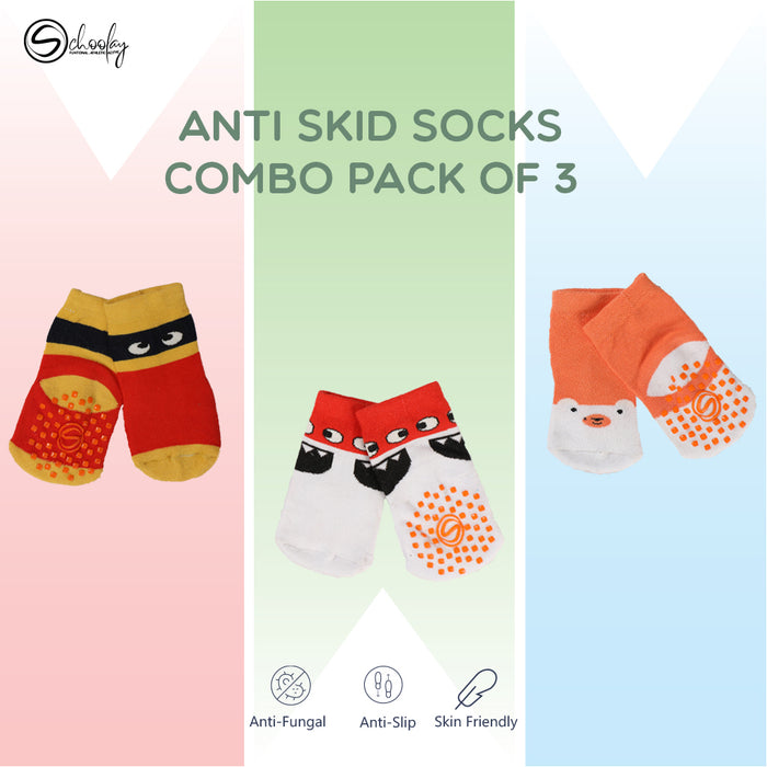 Anti-Slip Grips Infant Socks combo 4
