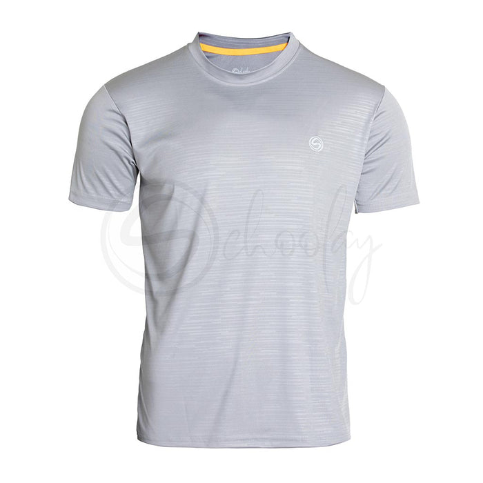 Classic Grey Stripes Embossed Tee