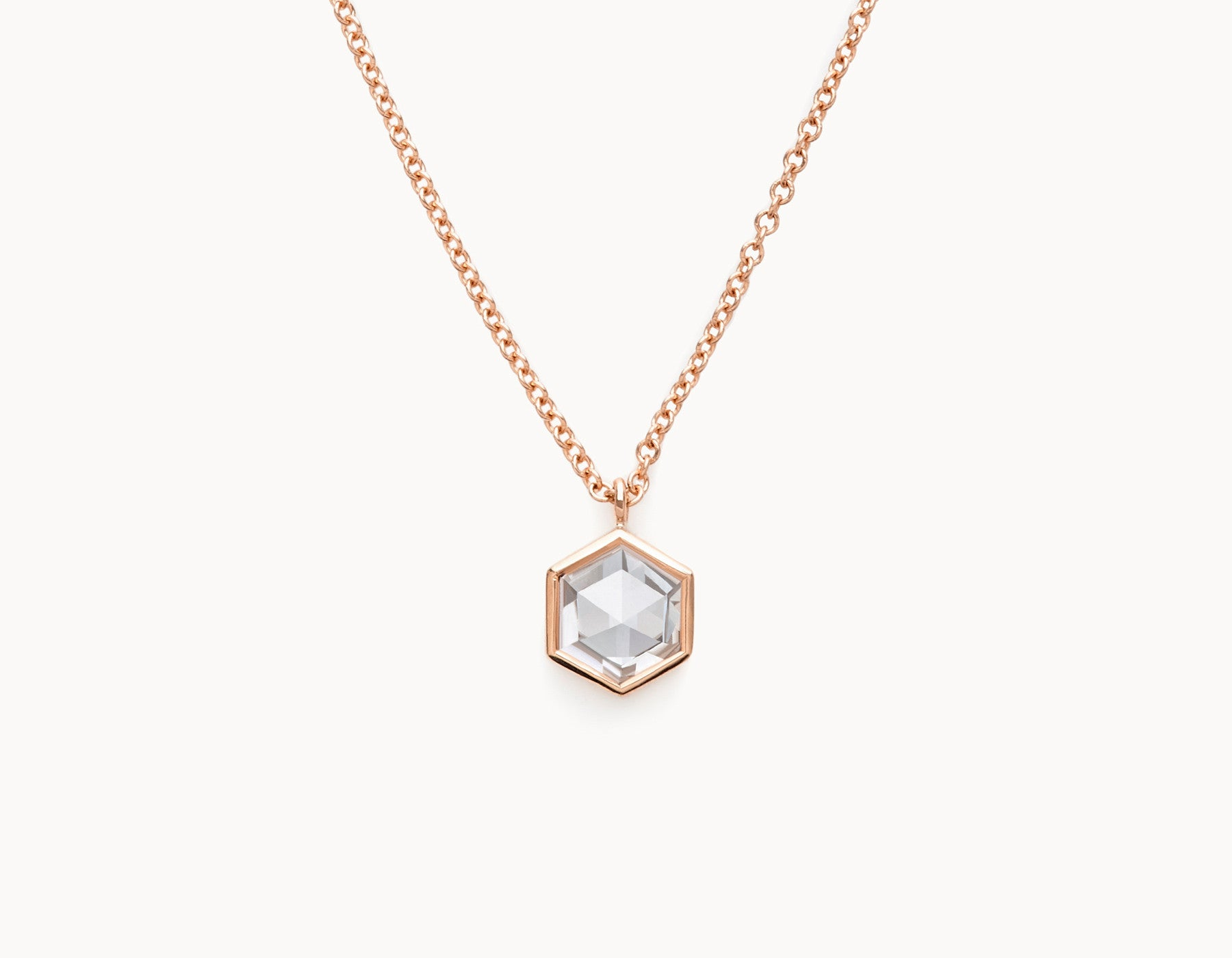Vrai & Oro Rose Cut Hex Diamond Necklace