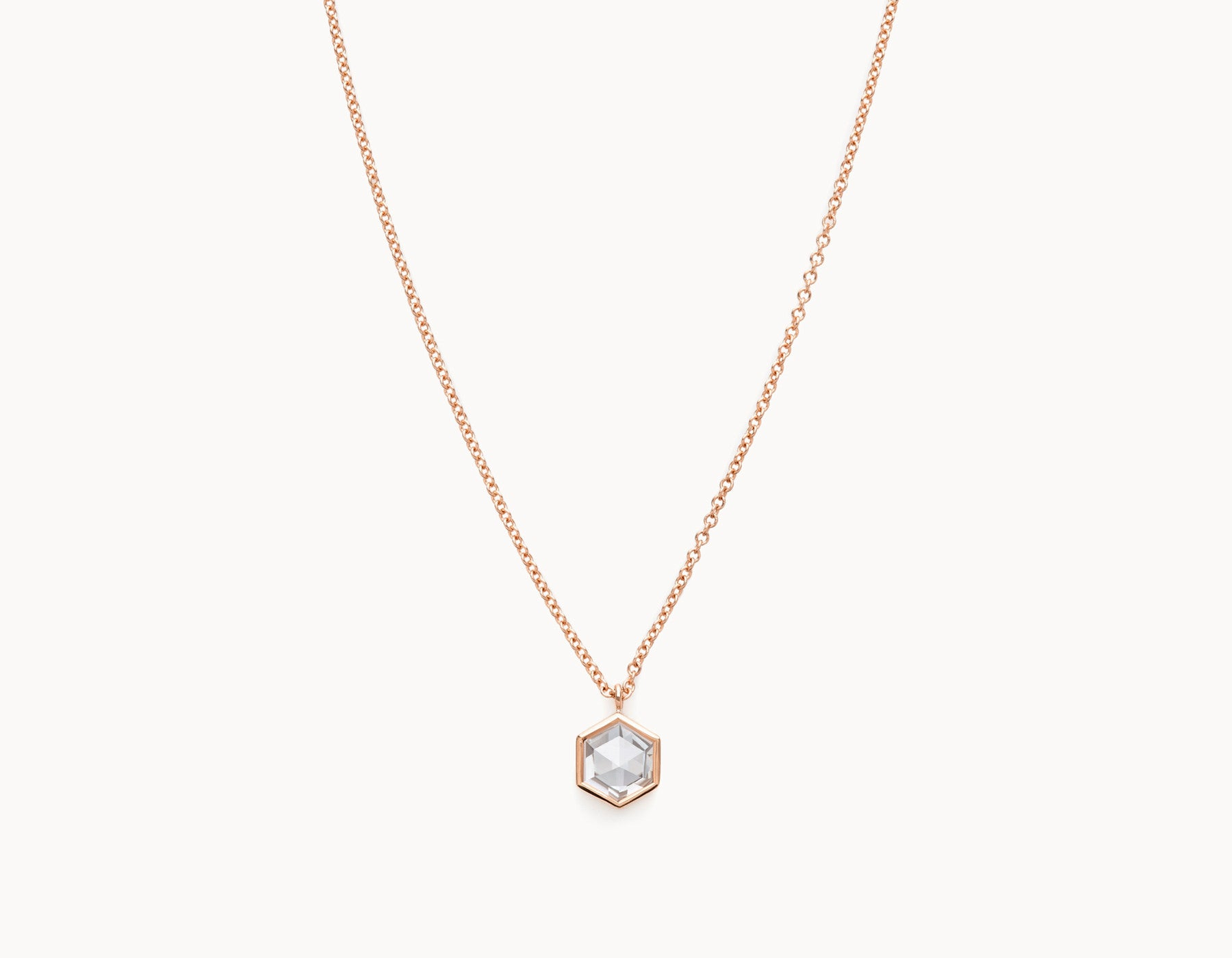 Vrai & Oro Black Label Rose Cut Hex Diamond Necklace