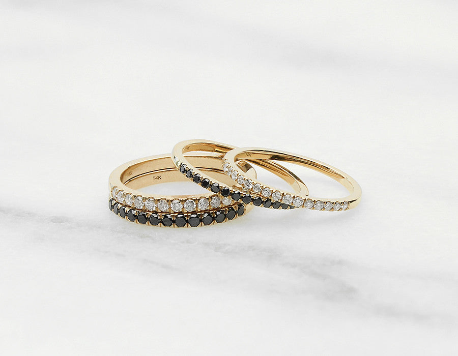 Unique Diamond Stacking Rings