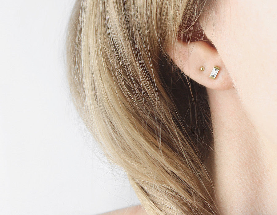Teeny Layered Minimalist Earrings