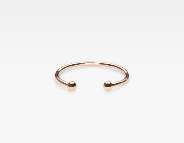 Rose Gold Dot Cuff Ring