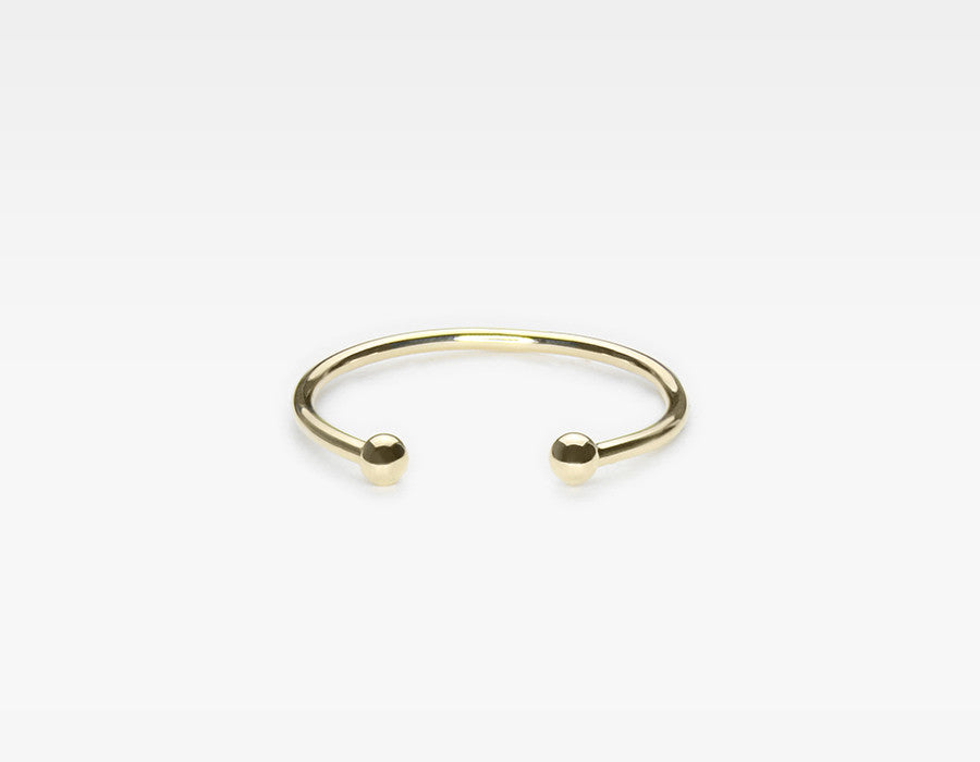 Gold Ball Cuff Ring