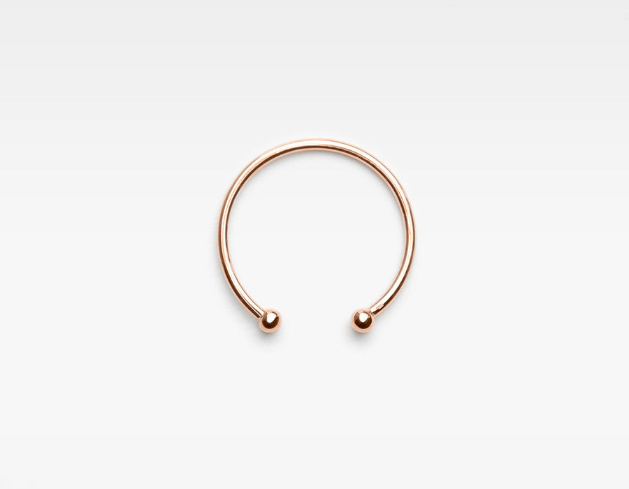 Dainty Rose Gold Cuff Ring