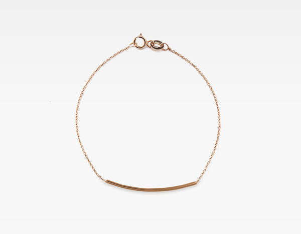 14k Rose Gold Personalized Bar Bracelet
