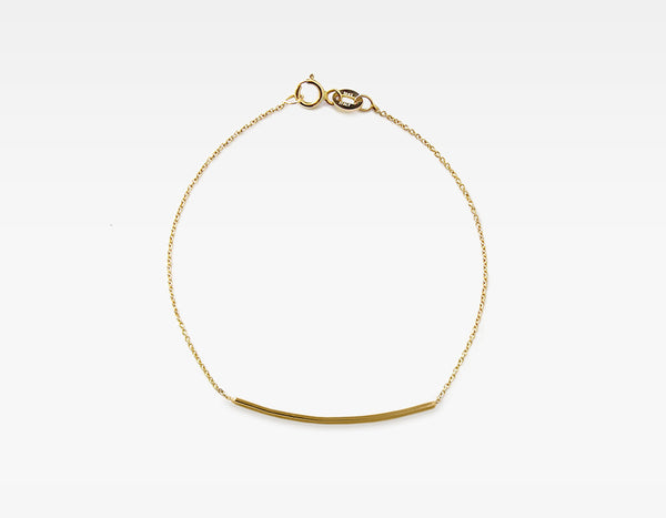 14k Yellow Gold Personalized Bar Bracelet