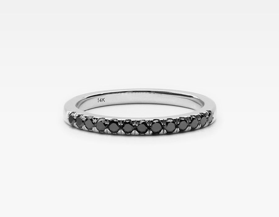 Black Diamond Eternity Band in White Gold