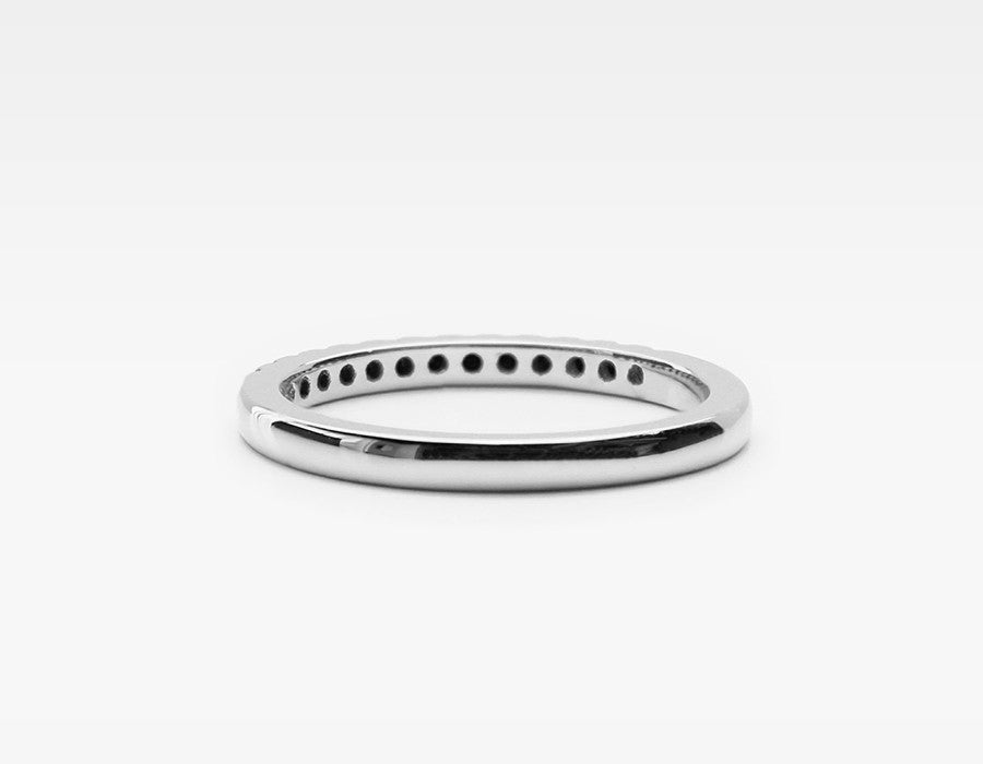 White Gold Wedding Ring with Black Diamonds