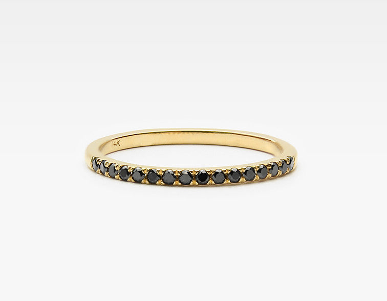 Delicate Black Diamond Eternity Band