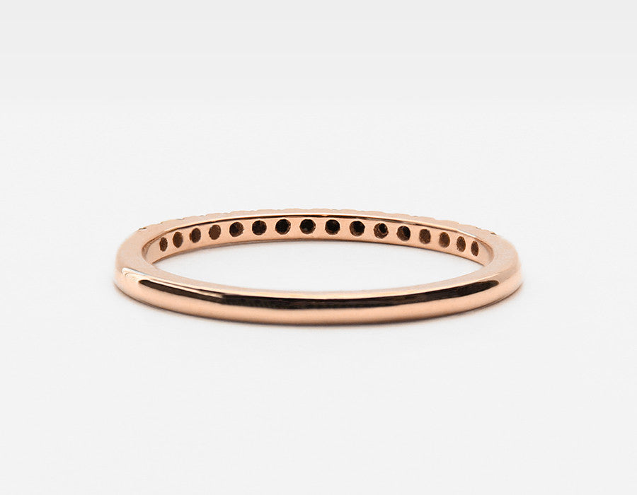 Dainty Wedding Band in Rose Gold