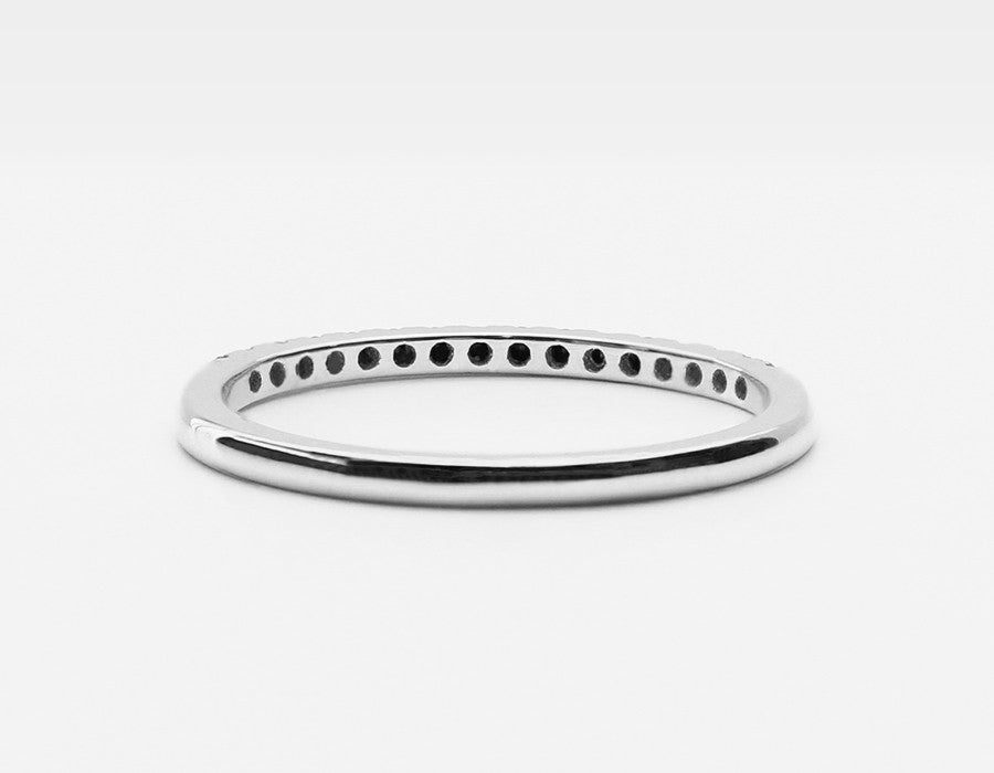Dainty Wedding Band in White Gold