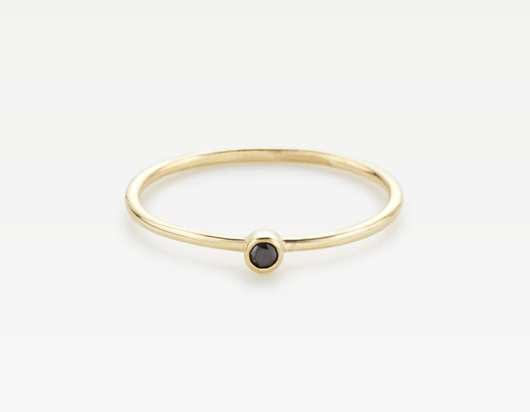 Minimalist Black Diamond Ring