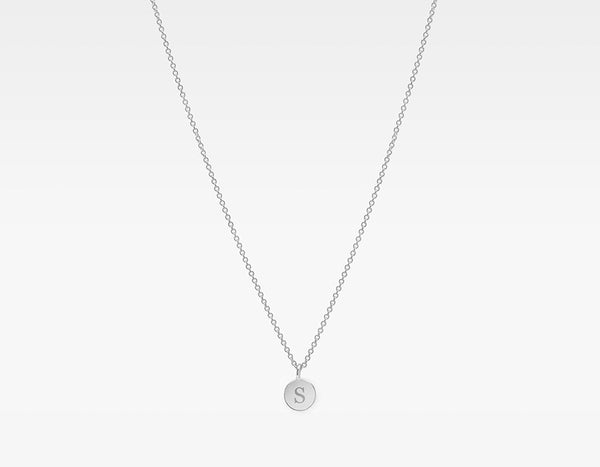 14k White Gold Personalized Charm Necklace
