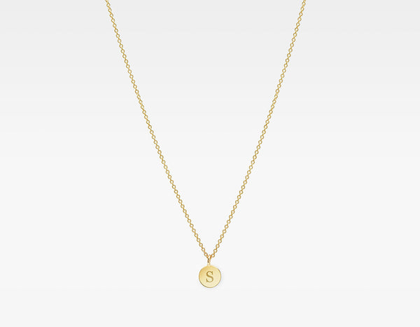 14k Gold Initial Charm Necklace