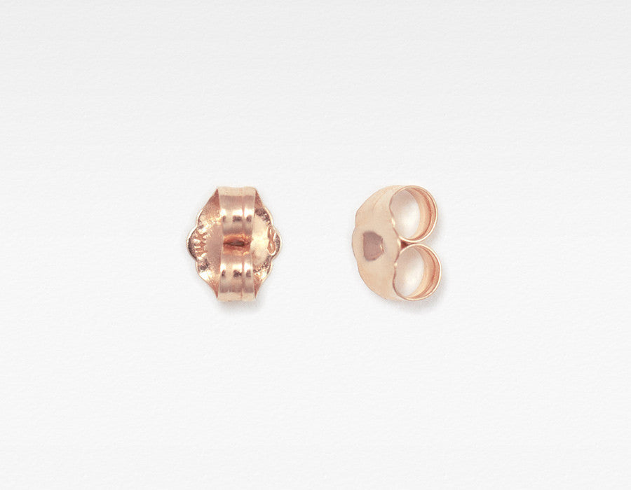 14k Rose Gold Earring Backs