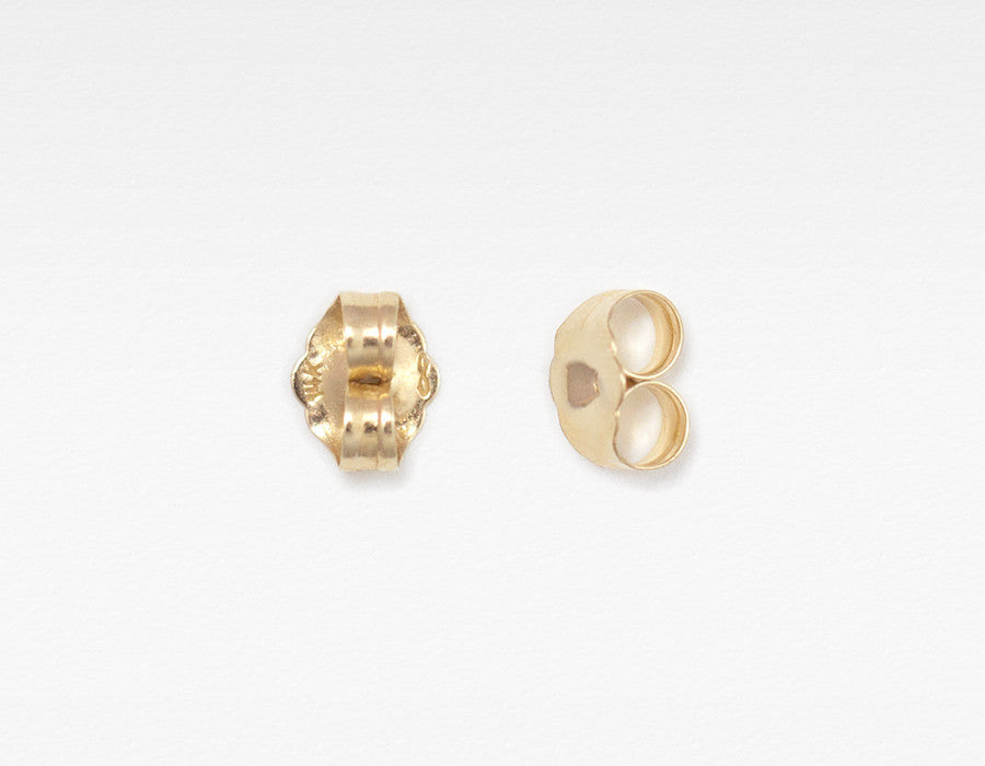 14k yellow gold earring back