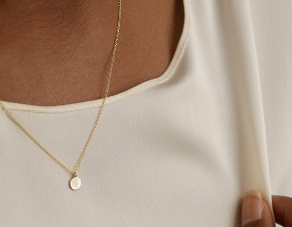 Vrai & Oro Initial Necklace