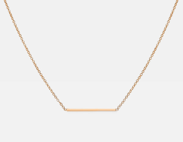 Line Necklace 14k Rose Gold