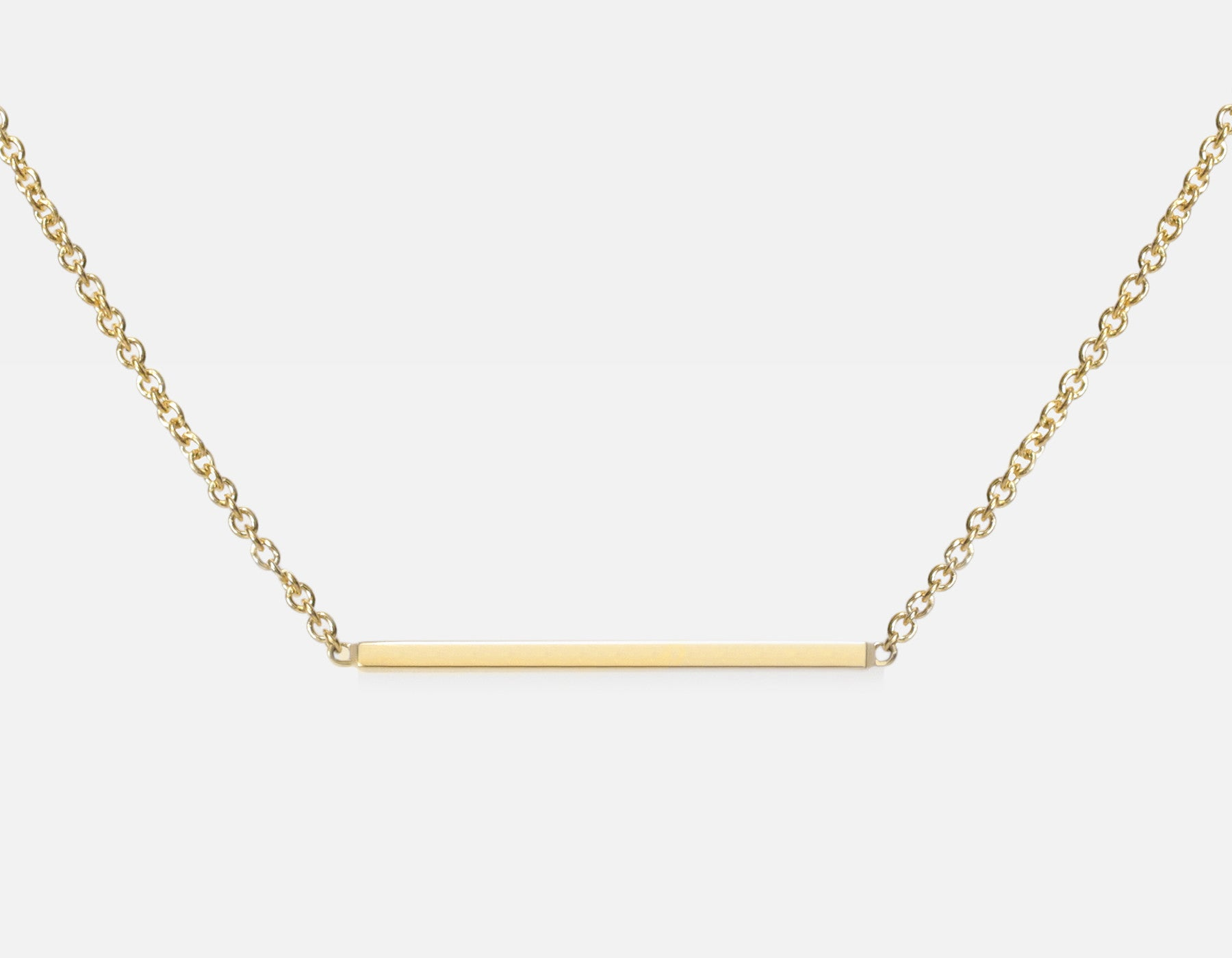 14k Mini Gold Line Necklace