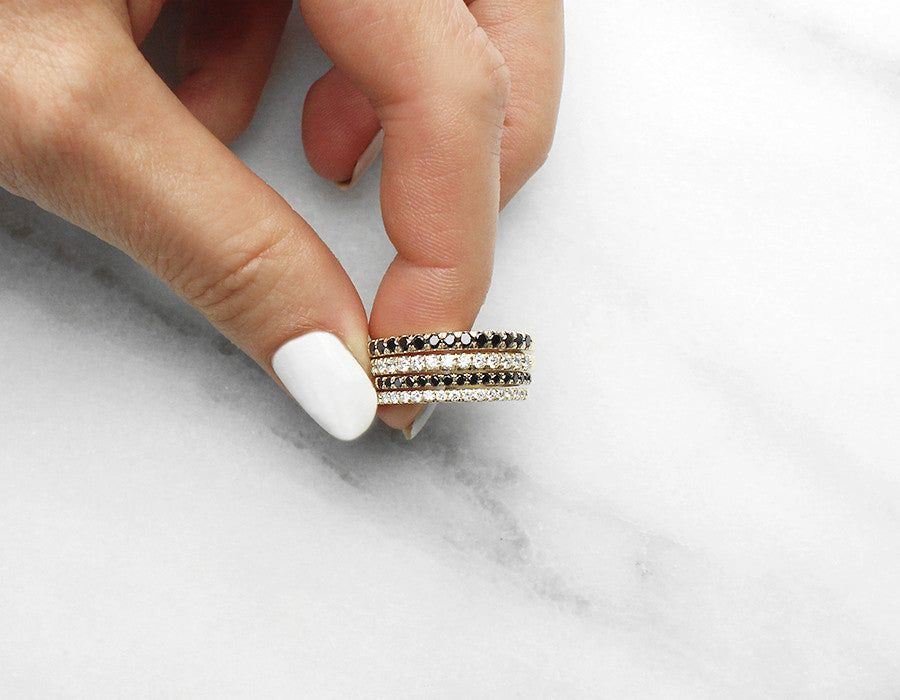 Diamond Stacking Eternity Rings