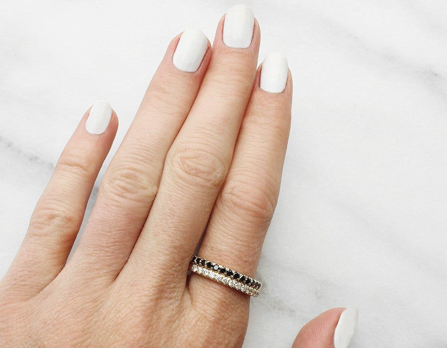 Black and White Diamond Eternity Bands