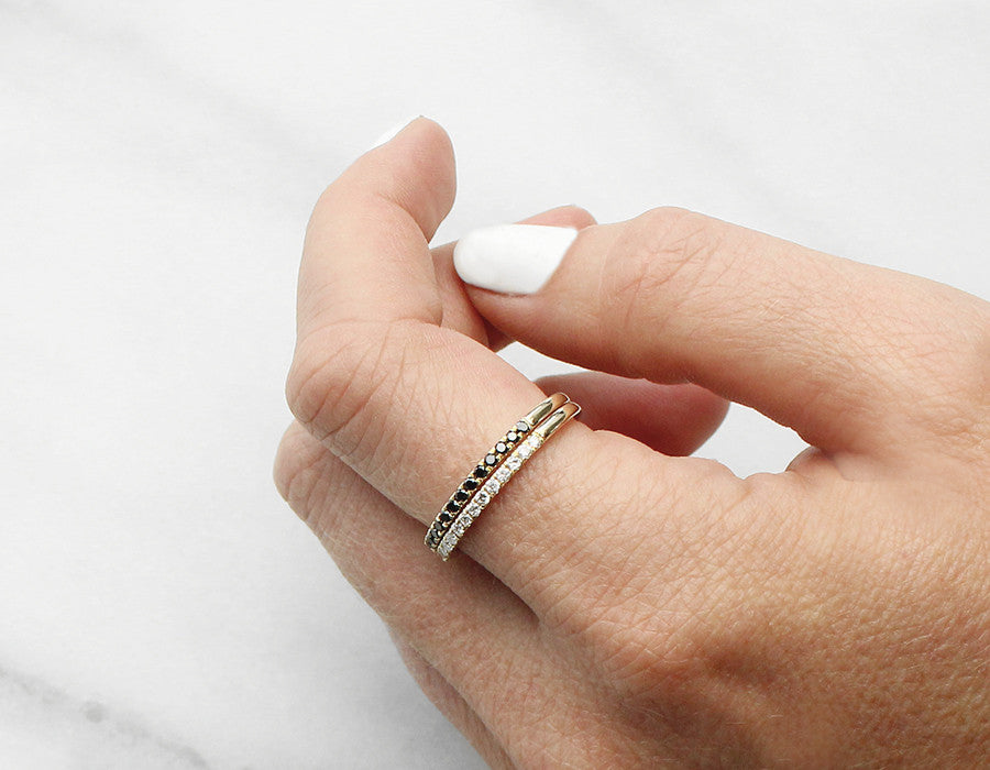 Dainty Diamond Eternity Bands