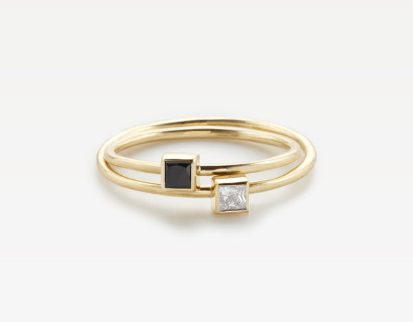 Simple Square Diamond Rings