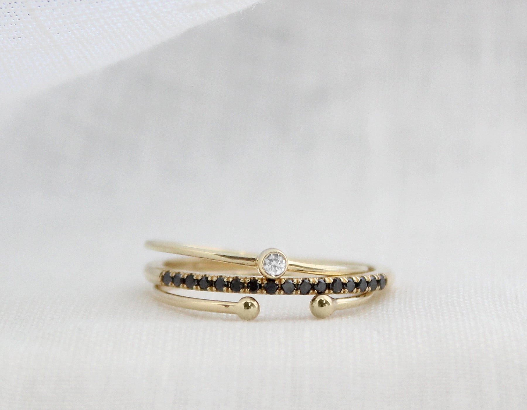 tiny diamond rings
