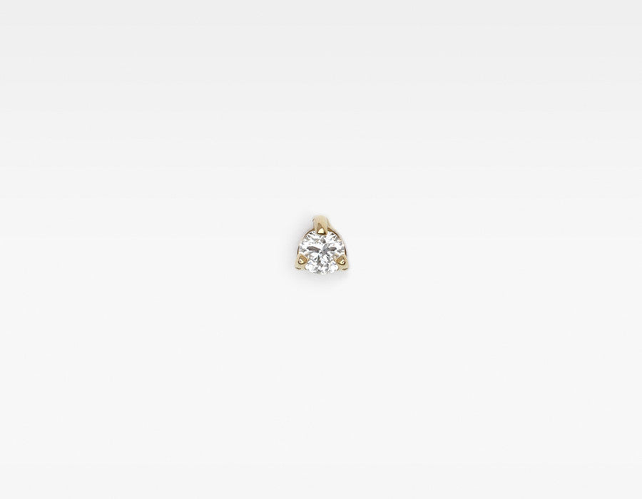 minimalist tiny diamond stud earring
