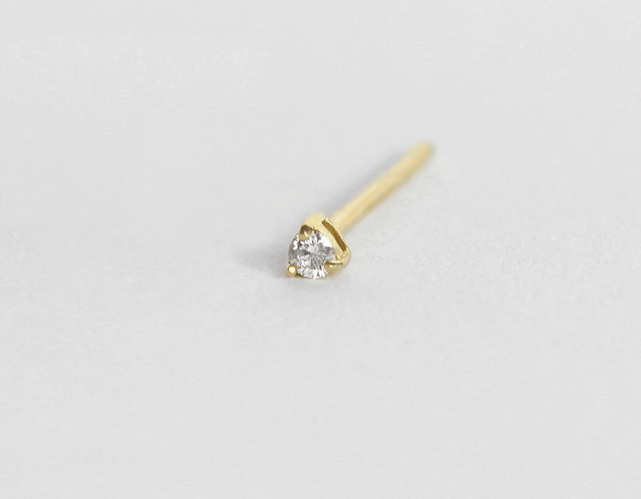 teeny tiny diamond stud