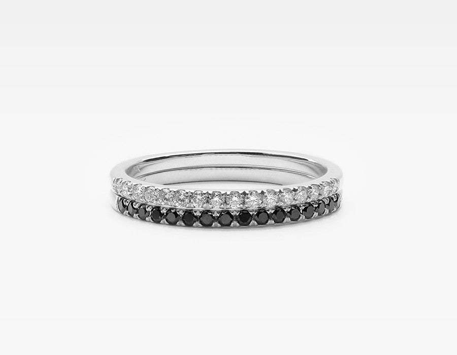 White Gold Diamond Ring Stackers