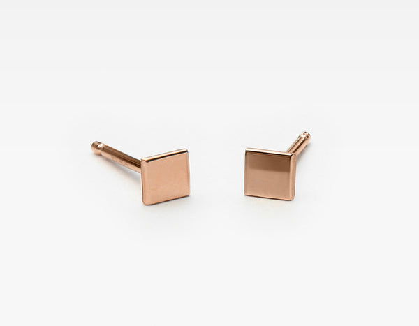Minimalistic Square Stud Earrings