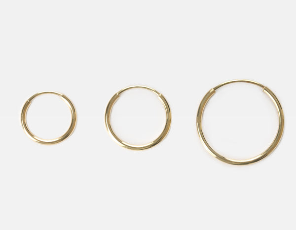 Vrai & Oro Hoop Sizes