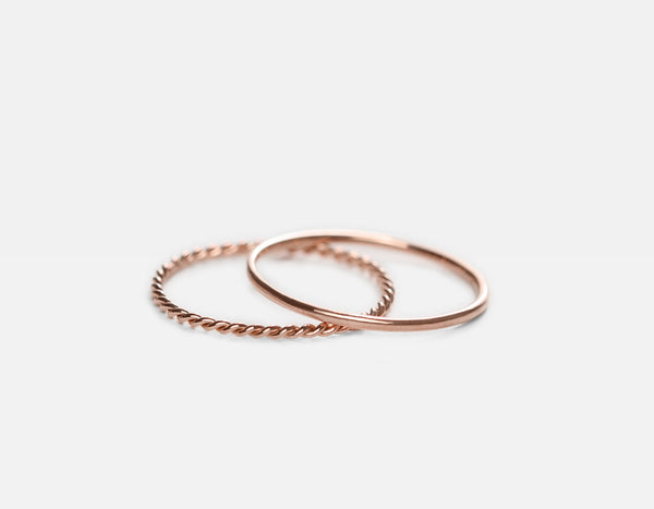 Dainty Rose Gold Rings
