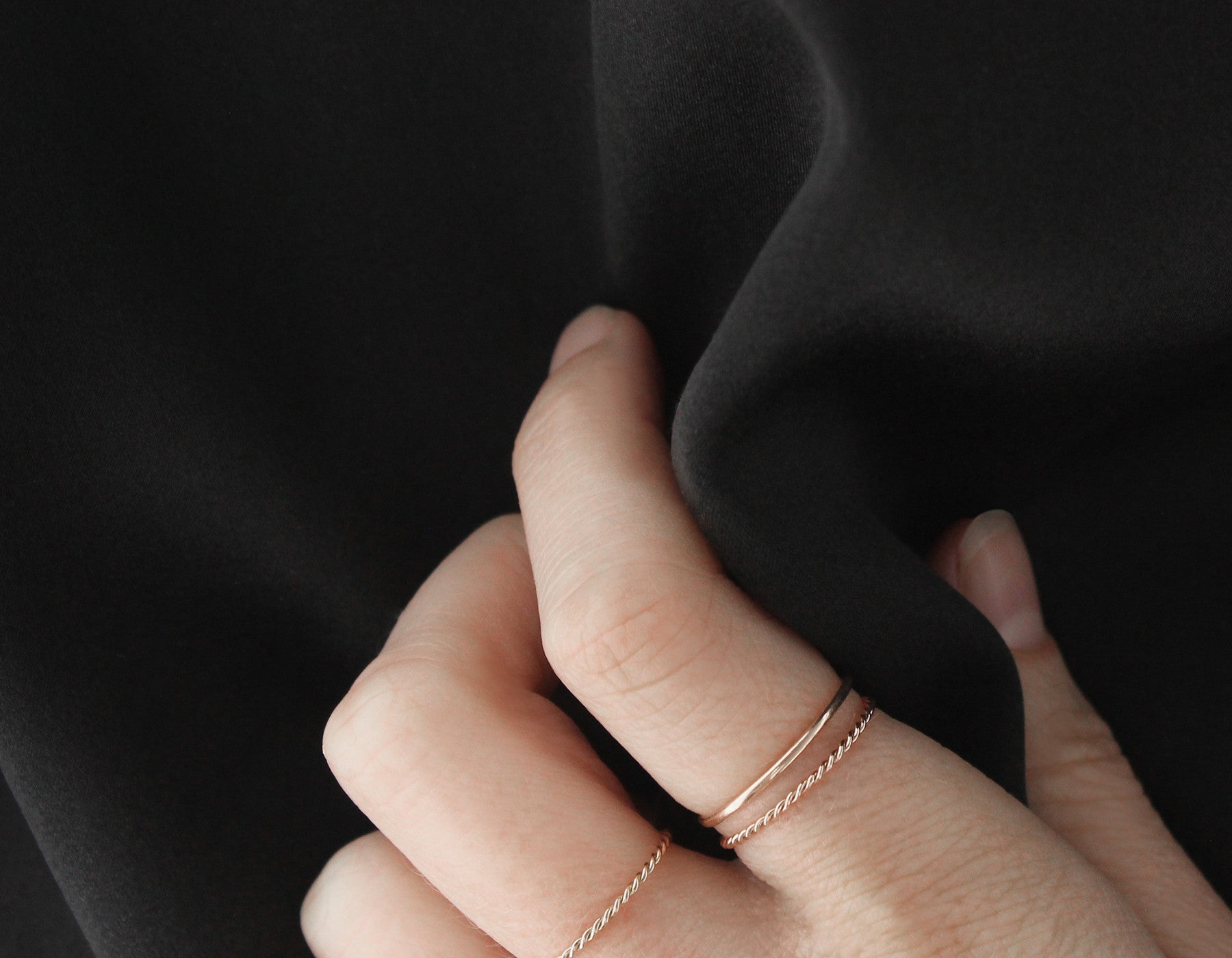 Simple Rose Gold Rings