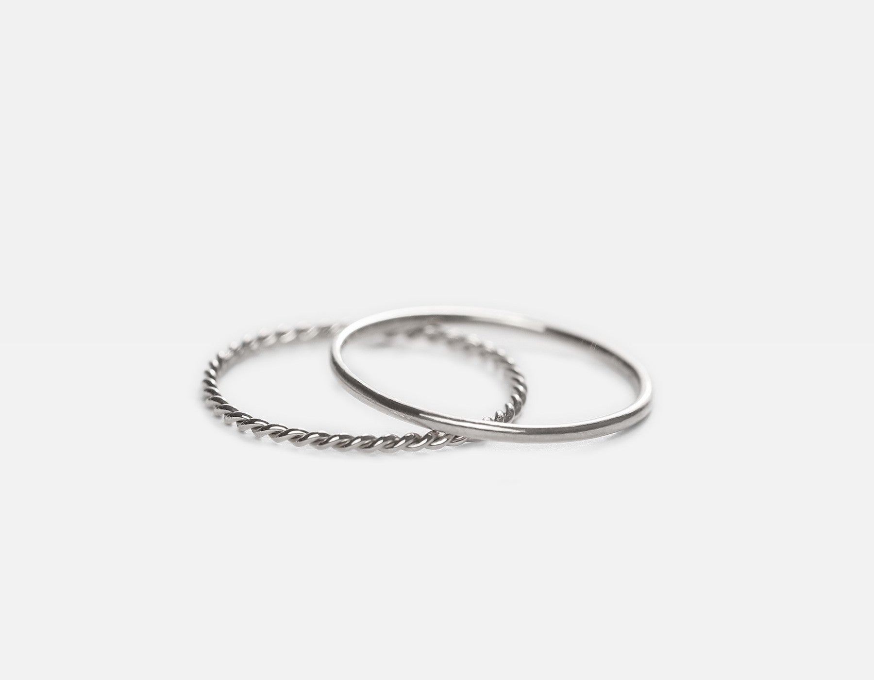 White Gold Dainty Stacking Ring