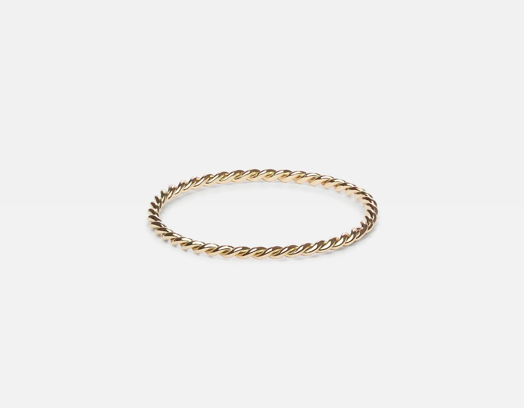 Yellow Gold Minimalist Twist Ring