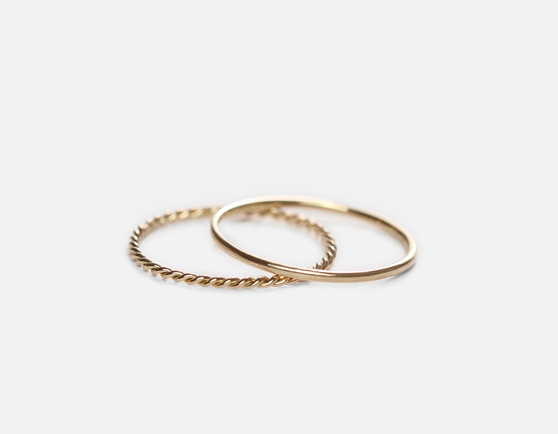 Real Gold simple stacking rings