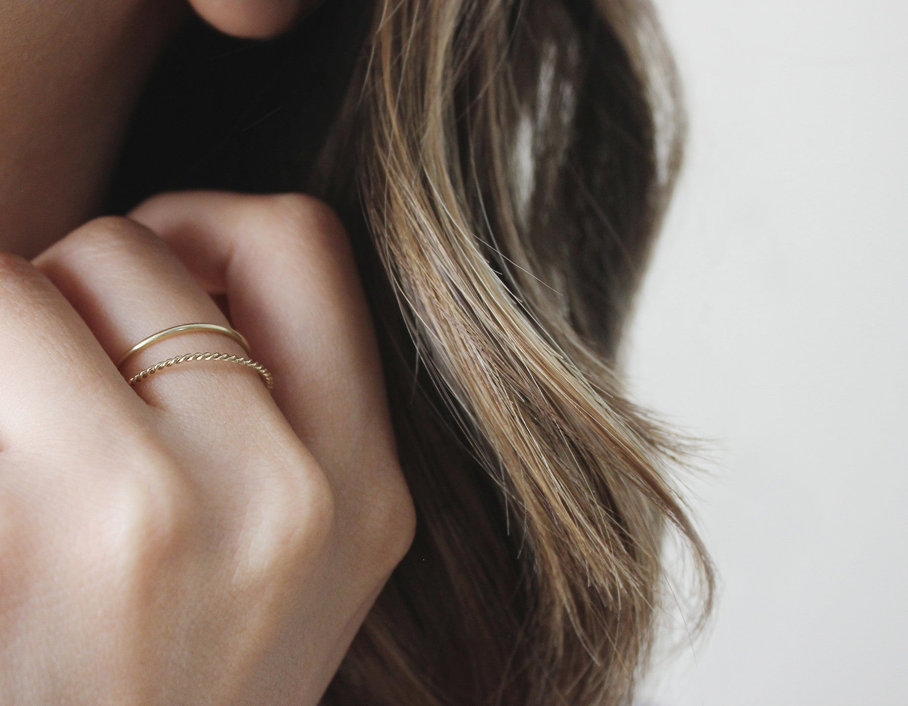 Real Gold Stacking Rings