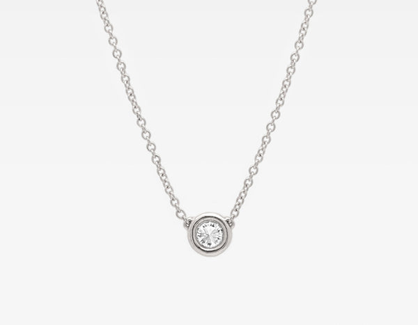 Dainty Diamond Necklace in White Gold